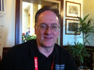 El periodista Steve Buttry en Perugia (2013)