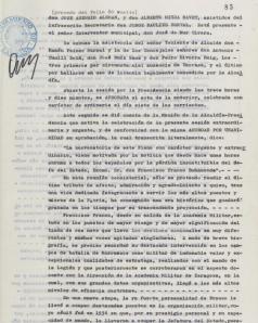Ple de l'Ajuntament de Terrassa amb caràcter extraordinari tras la mort de Francisco Franco (Font: Web de l'Arxiu Històric de Terrassa. 20/11/1975)