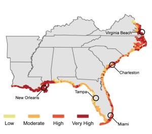 Zonas afectadas en el litoral de Lousiana (Fuente: The Lens)